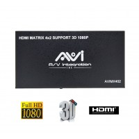 AVI HDMI Matrix 4x2 3D with IR