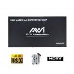 AVI HDMI Matrix 4x2 3D with IR